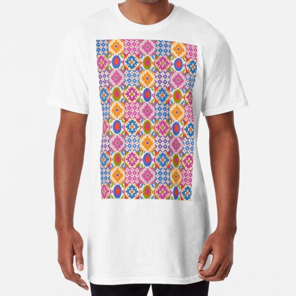Decorative Ikat Pattern Long T-Shirt
