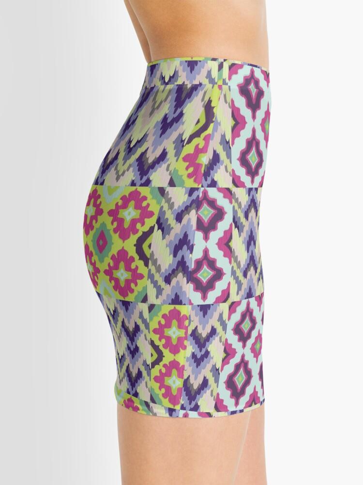 Alternate view of Decorative Ikat Pattern Mini Skirt