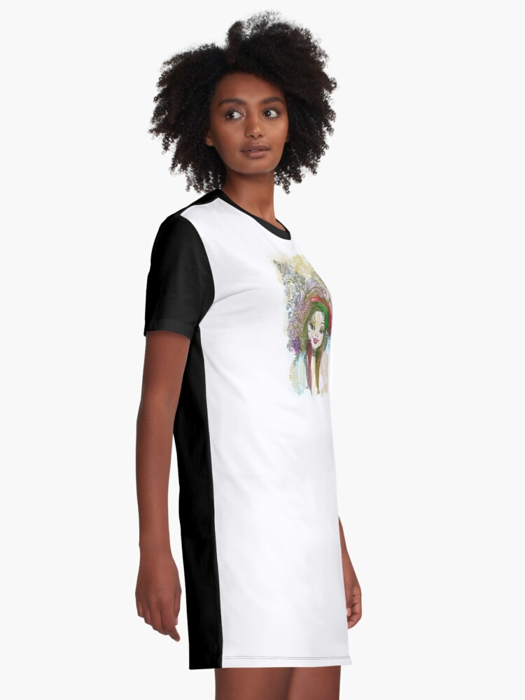Alternate view of Coquette Graphic T-Shirt Dress