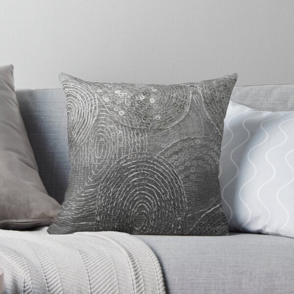 Metallic Lace Throw Pillow