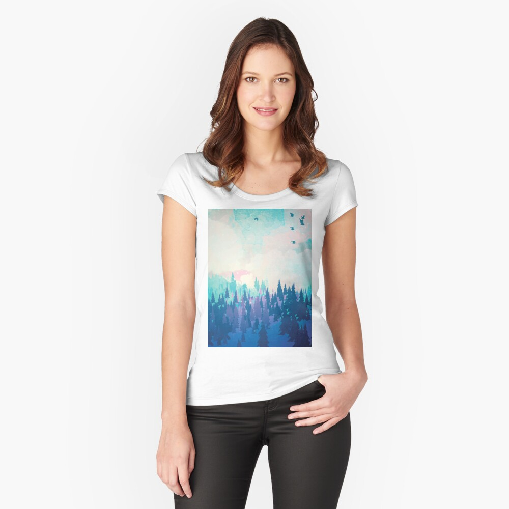 Forest Fitted Scoop T-Shirt