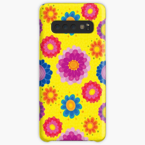 Yellow Floral Pattern Samsung Galaxy Snap Case