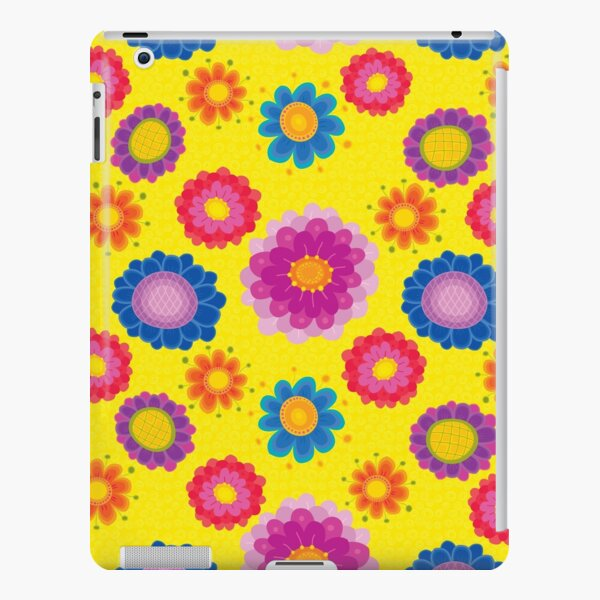 Yellow Floral Pattern iPad Snap Case