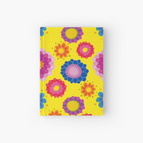 Yellow Floral Pattern Hardcover Journal