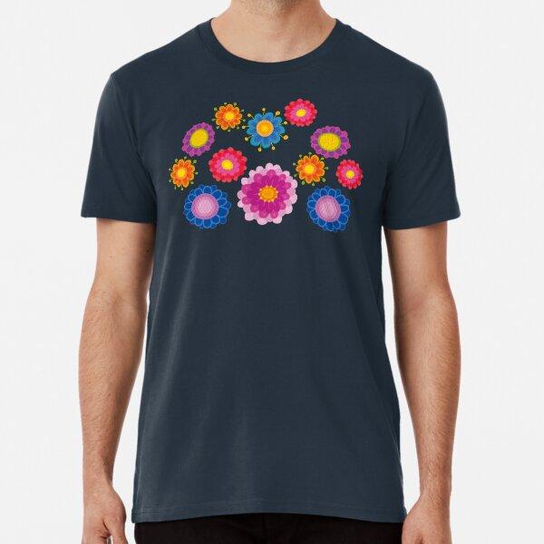 Yellow Floral Pattern Premium T-Shirt