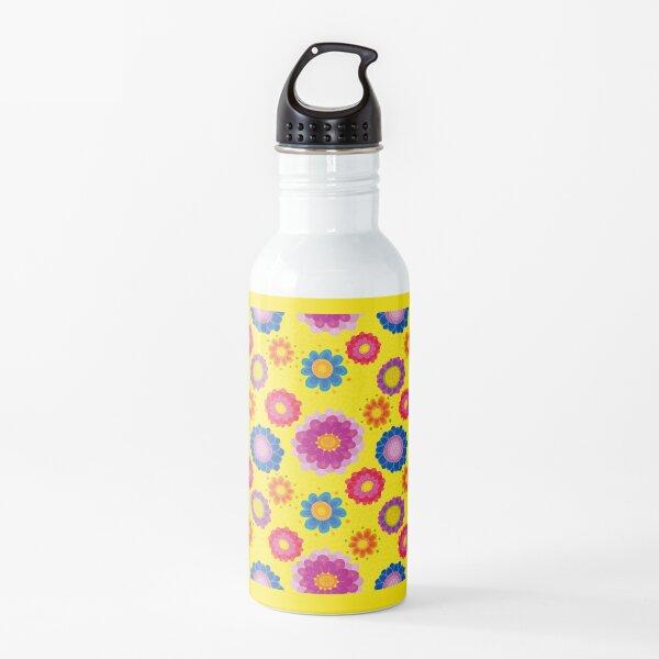 Yellow Floral Pattern Water Bottle