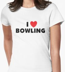 I Love Bowling Women's Fitted T-Shirt