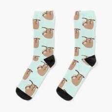Cute Baby Cartoon Sloth Design Socks