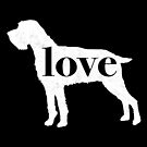 German Wirehaired Pointer (GWP) Dog Love - A Minimalist Distressed Vintage Style Design for Dog Lovers by traciwithani
