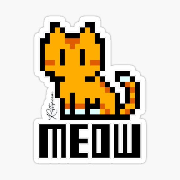 Just Meow saying Hello Sticker
