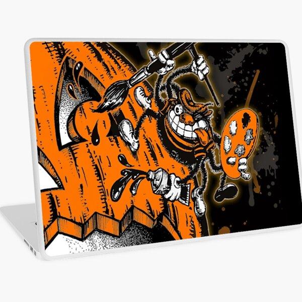 Halloween Pumpkin Spider Artist Laptop Skin