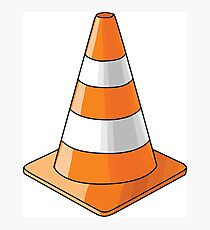 traffic cone Photographic Print