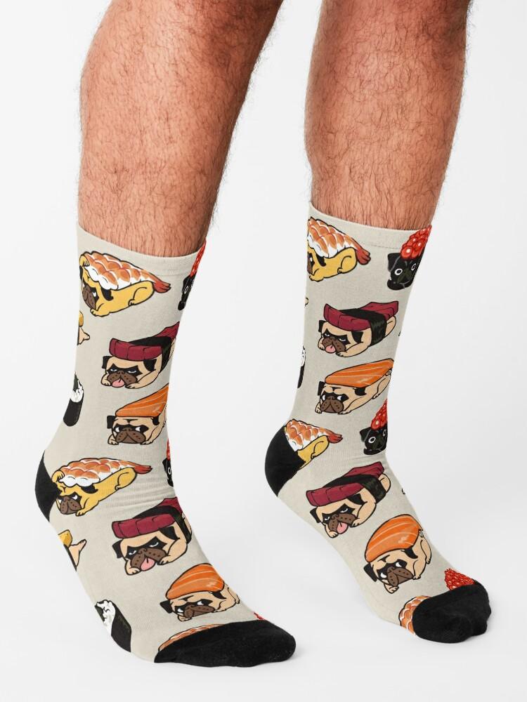 Alternate view of Sushi Pug Socks