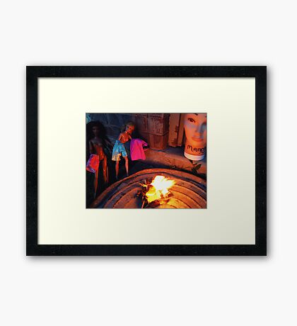 Bonfire of the Vanities Framed Print