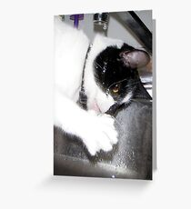 Thirsty Girl Greeting Card