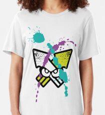 Splatoon - Turf Wars 3 [WHITE Var] Slim Fit T-Shirt