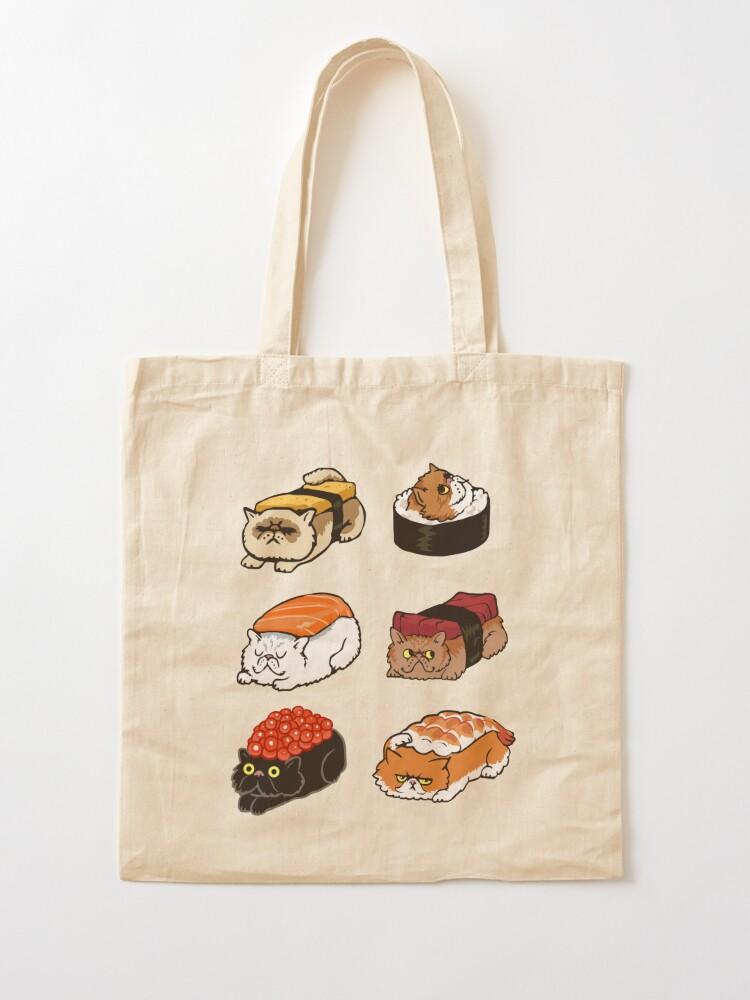 Alternate view of Sushi Persian Cat Tote Bag