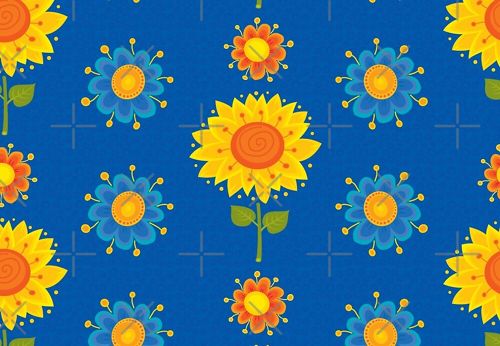 Sunflowers Pattern by rusanovska