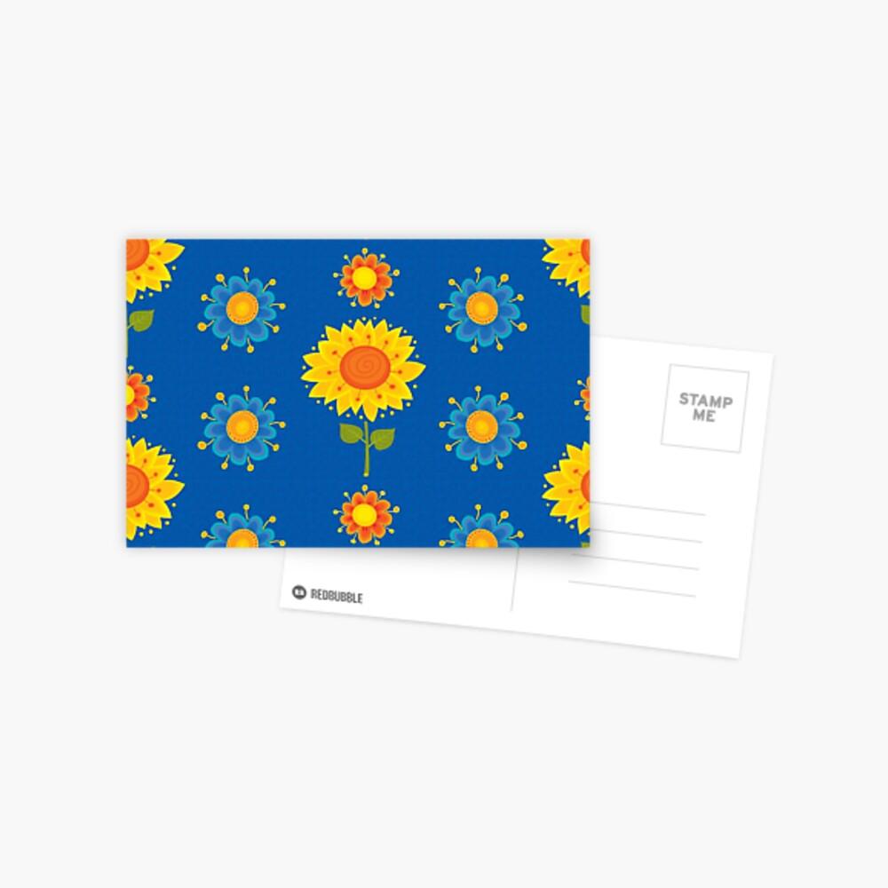 Sunflowers Pattern Postcard