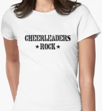 Cheerleaders Rock Womens Fitted T-Shirt