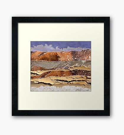 """Mountains to the Sea""  Framed Print"