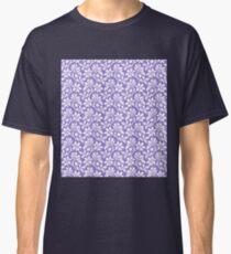 Lavander Vintage Wallpaper Style Flower Patterns Classic T-Shirt