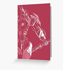 Drift in pink Greeting Card