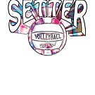 Trend Setter Volleyball Player by MudgeStudios