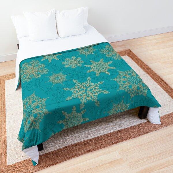 Golden Snowflakes Comforter
