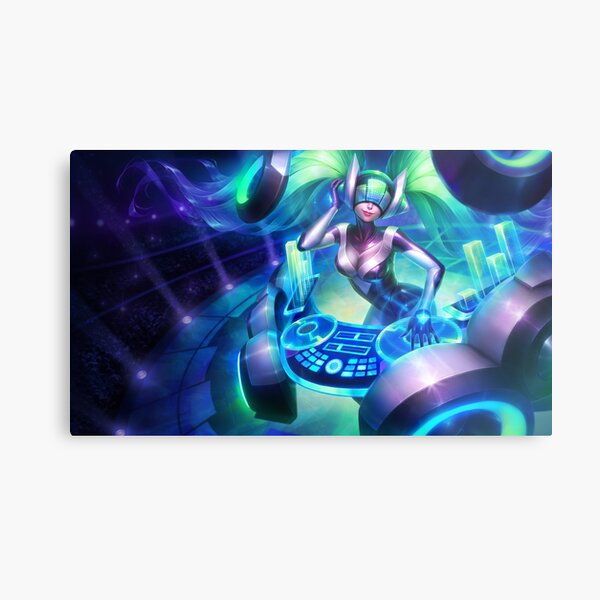 DJ Sona Kinetic Splash Art - League of Legends Lámina metálica