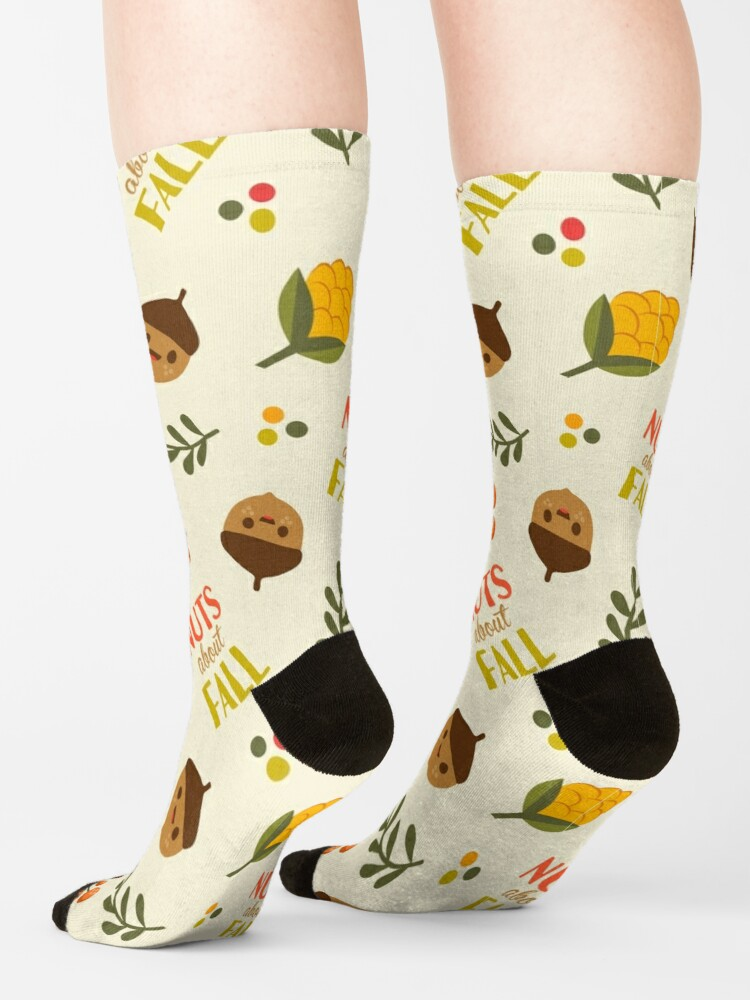 Alternate view of Nuts about Fall Socks