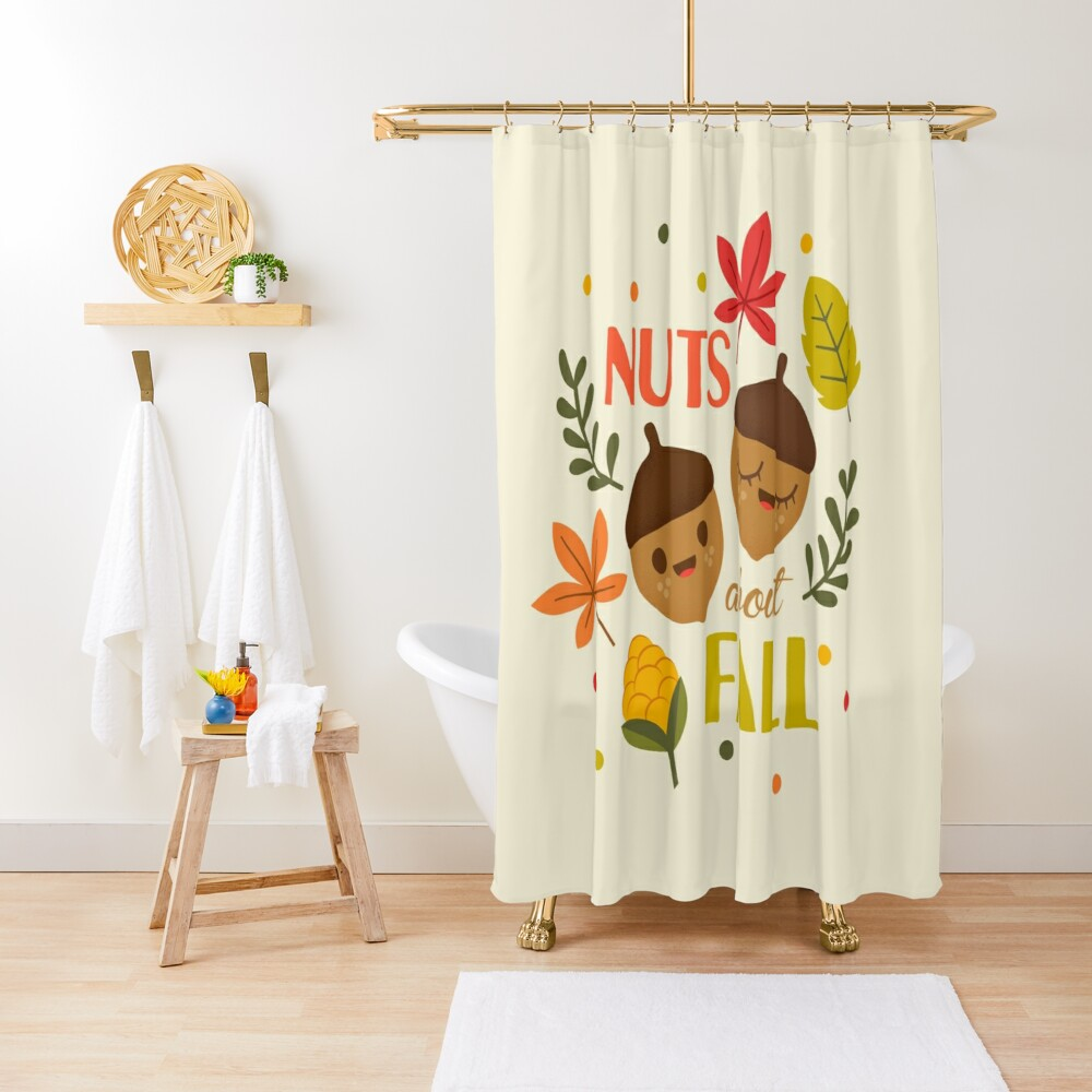 Nuts about Fall Shower Curtain