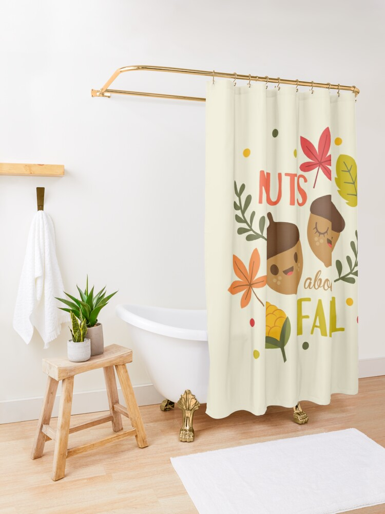 Alternate view of Nuts about Fall Shower Curtain