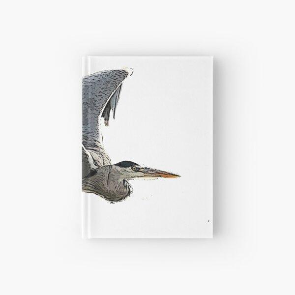 Heron In Flight Hardcover Journal