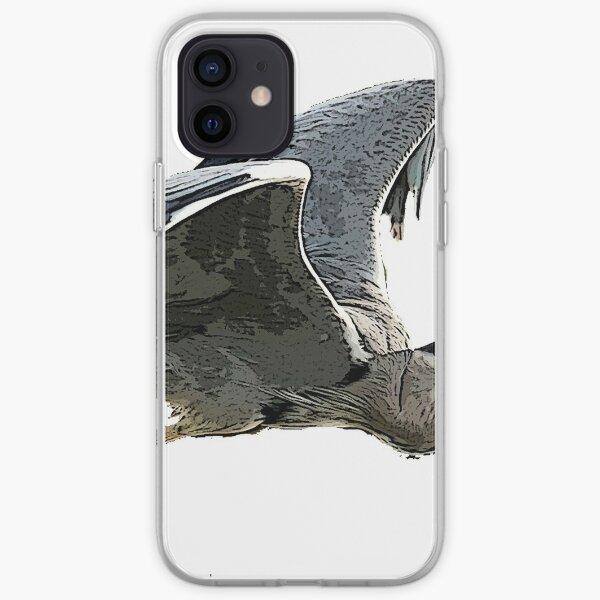 Heron In Flight iPhone Soft Case