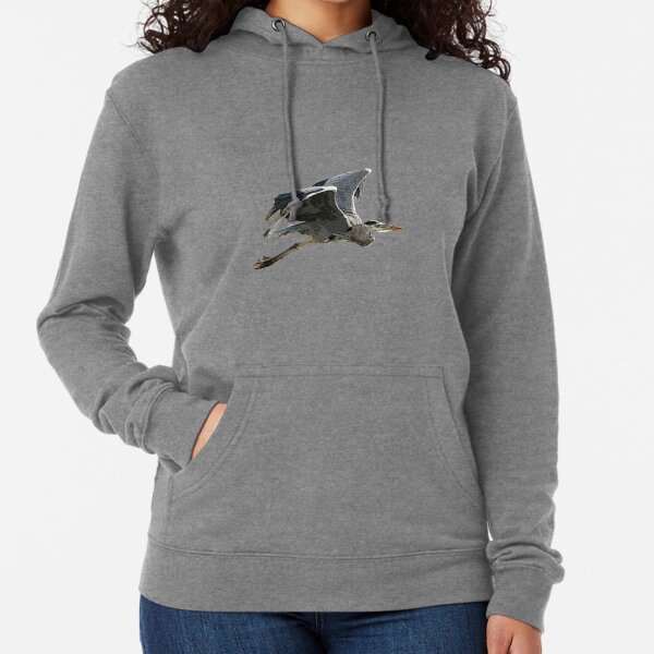 Heron In Flight Lightweight Hoodie
