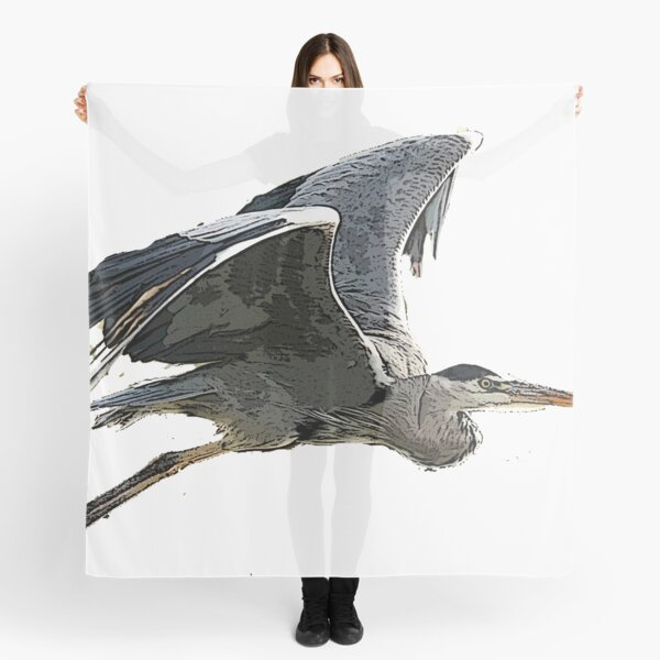 Heron In Flight Scarf