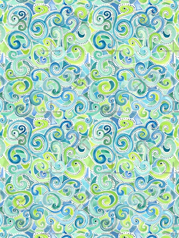 Swirly Spiral Watercolor by creativinchi