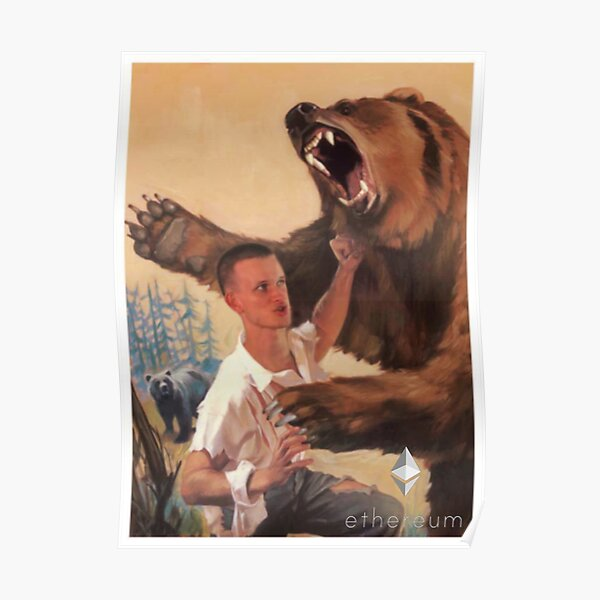 Vitalik Punching Bear Poster