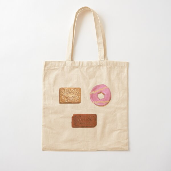 Biscuits: Custard Cream, Party Ring and Bourbon Cotton Tote Bag