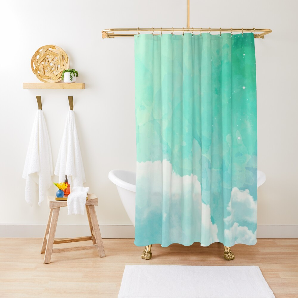 Above the sky Shower Curtain