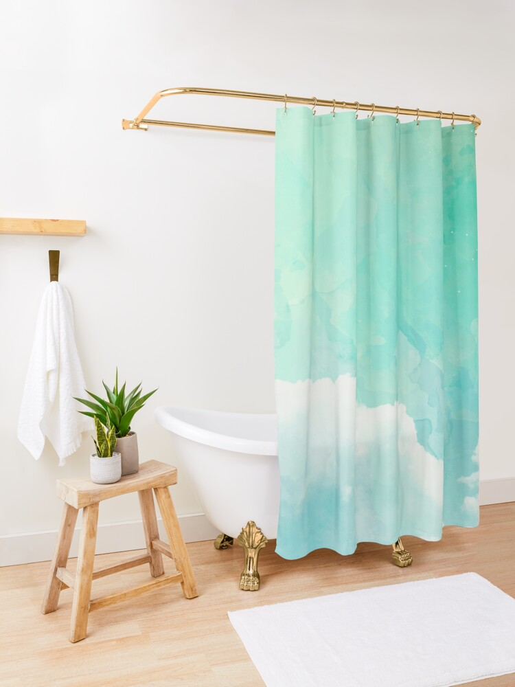 Alternate view of Above the sky Shower Curtain