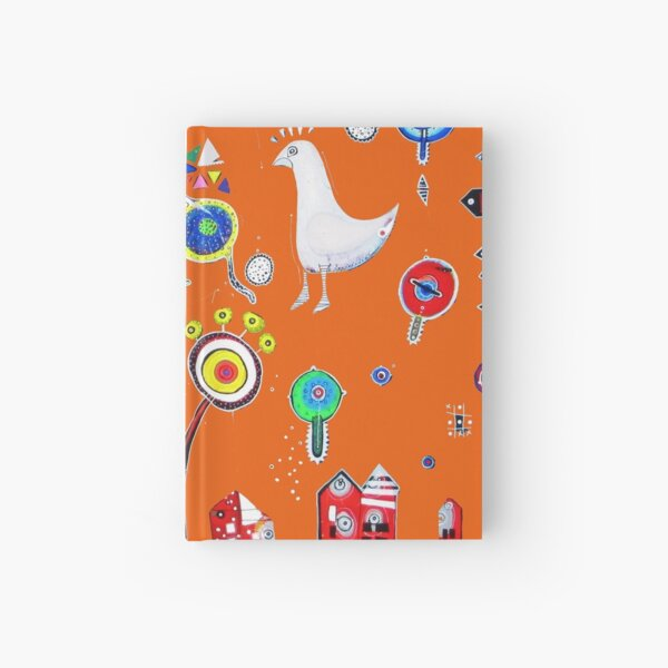 BIRDY with striped socks Hardcover Journal