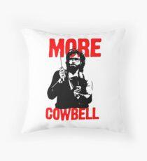 More Cowbell T-Shirt Throw Pillow