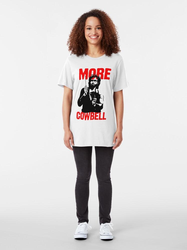 Vista alternativa de Camiseta ajustada Más Cowbell Camiseta