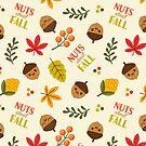 Nüsse über Herbstmusterdesign von jsongdesign