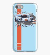 Gulf Porsche Motorsport Artwork iPhone Case/Skin