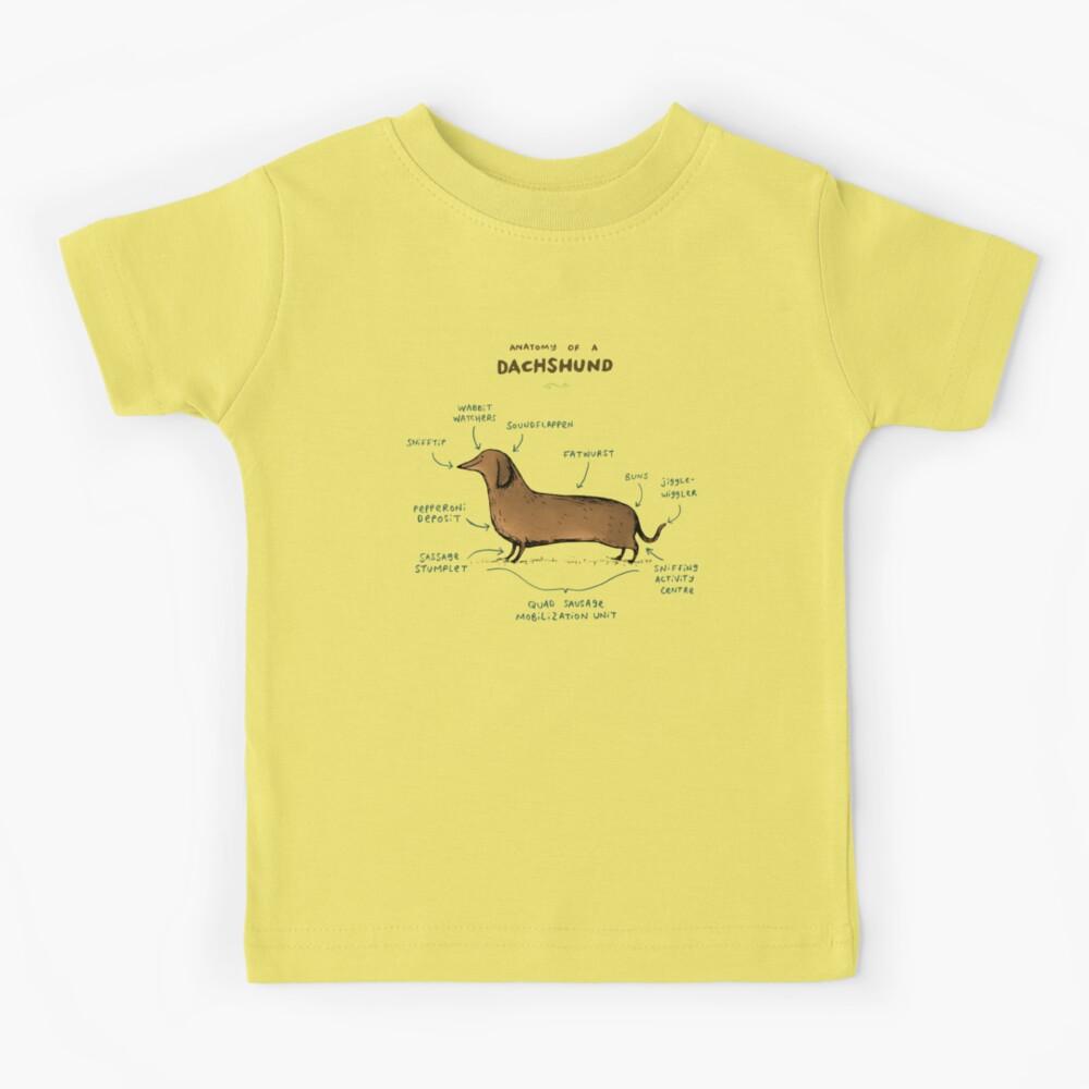 Anatomy of a Dachshund Kids T-Shirt