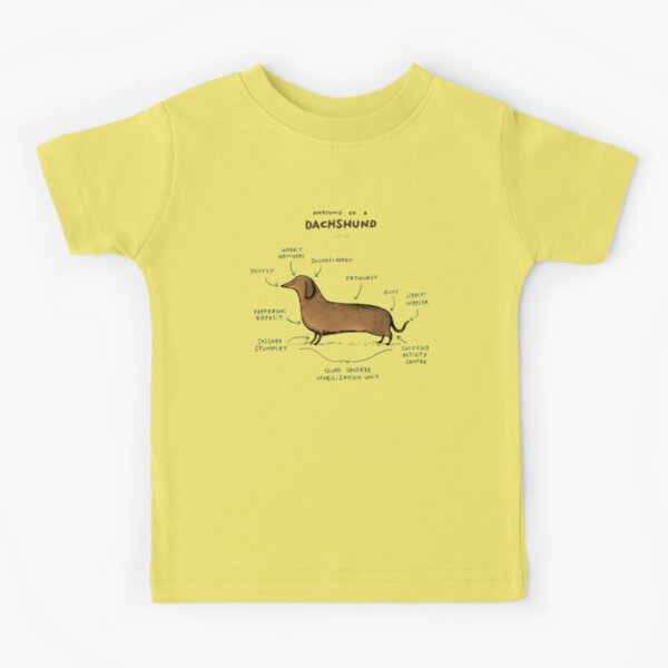 Anatomy of a Dachshund Kids T-Shirt