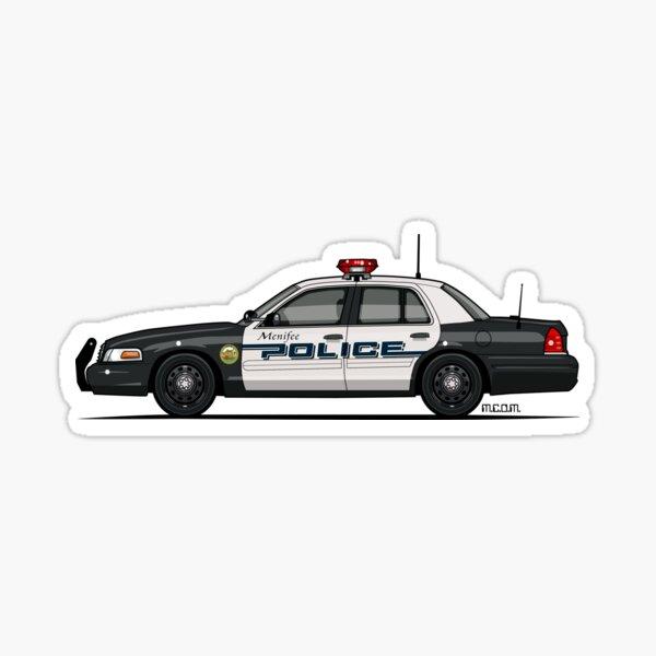 F0rd Cr0wn V1c Police Interceptor Menifee Police Department Cop Car Sticker
